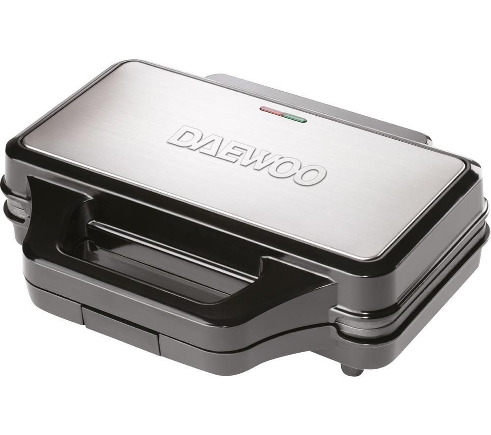 DAEWOO SDA1389 4-Slice Sandwich Maker - Black & Silver