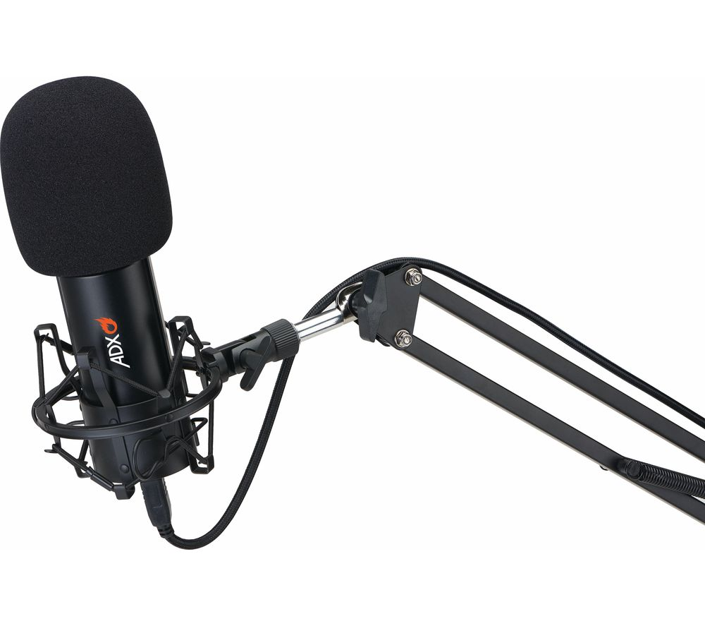 Image of ADX ADXFC0220 Microphone & Boom Arm - Black, Black