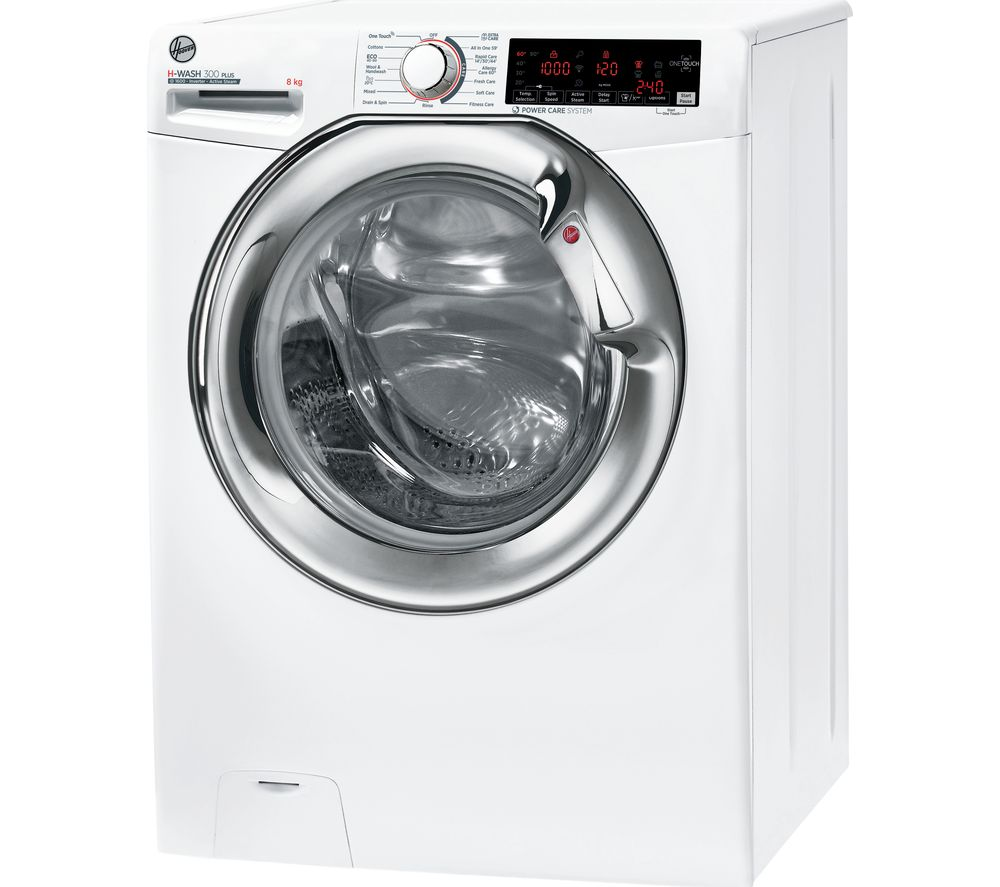 HOOVER H-WASH 300 H3WS68TAMCE NFC 8 kg 1600 Spin Washing Machine - White, White