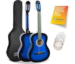 STX20CBBPK Junior Classical Guitar Pack - Blue