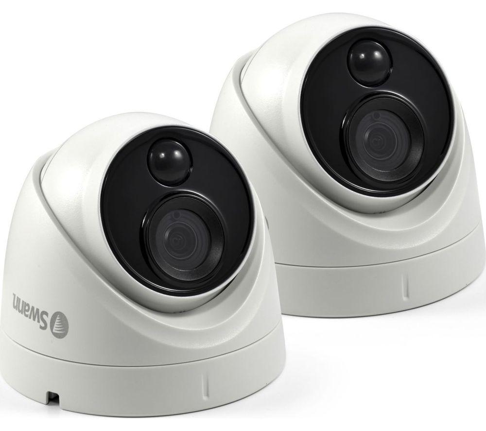 SWANN SWPRO-4KDOMEPK2-EU 4K Ultra HD Add-On Security Cameras - 2 Cameras