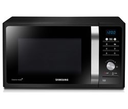 SAMSUNG MS23F301TAK/EU Solo Microwave - Black Glass Best Price, Cheapest Prices