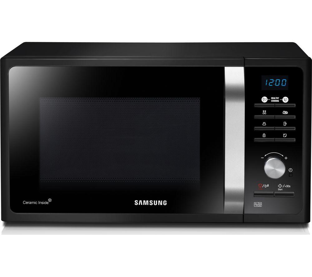 SAMSUNG MS23F301TAK/EU Solo Microwave - Black Glass, Black