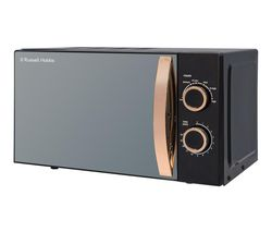 RUSSELL HOBBS RHM1727RG Compact Solo Microwave - Black & Rose Gold Best Price, Cheapest Prices