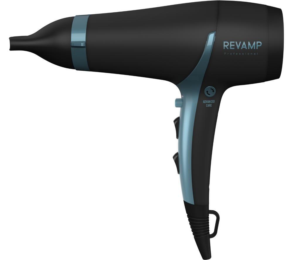 REVAMP Progloss 4000 Advanced Protect & Care Hair Dryer - Blue & Black, Blue