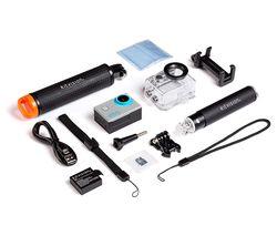 4K Ultra HD Action Camera Adventure Pack - Black