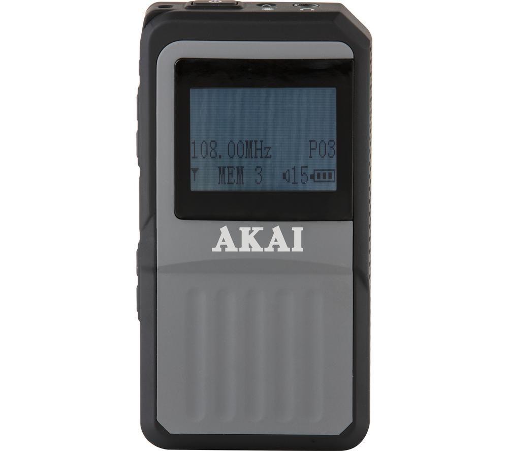AKAI A61027 DAB Portable Radio - Black, Black
