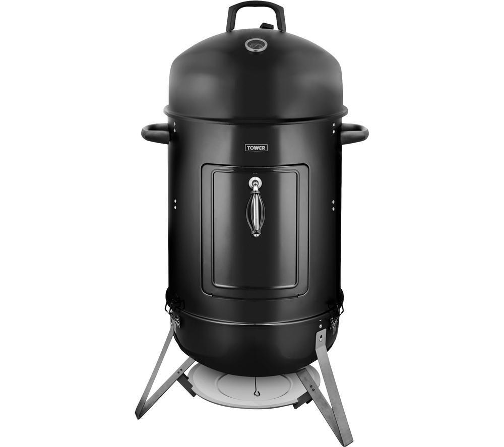 TOWER T978505 Grill Charcoal BBQ & Smoker - Black