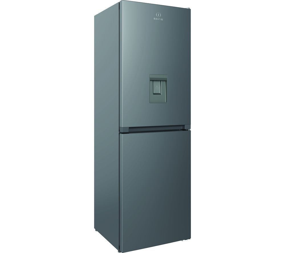 INDESIT INFC8 50TI1 S AQUA 1 50/50 Fridge Freezer - Silver, Aqua