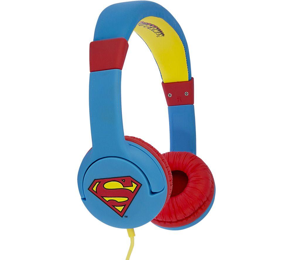 OTL DC0262 Superman Man of Steel Kids Headphones - Blue