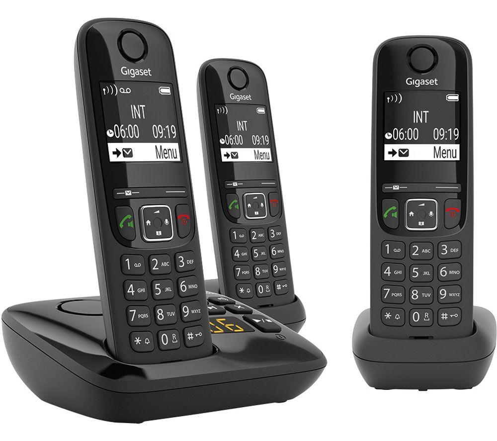 GIGASET AS690A Cordless Phone - Triple Handsets