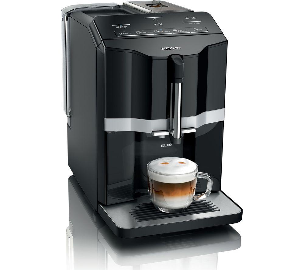 SIEMENS EQ.300 TI351209GB Bean to Cup Coffee Machine - Black, Black