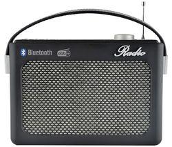 N5401BK-A Portable DAB+/FM Retro Bluetooth Radio - Black