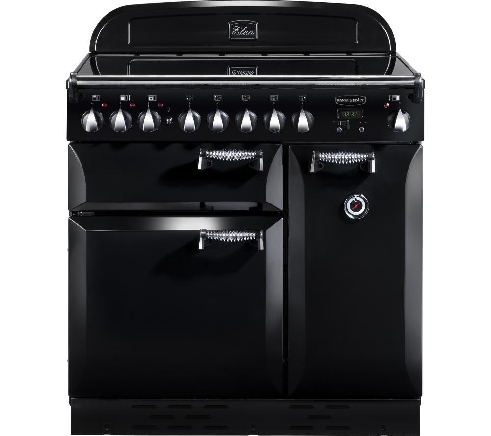 RANGEMASTER Elan 90 Electric Ceramic Range Cooker - Black & Chrome