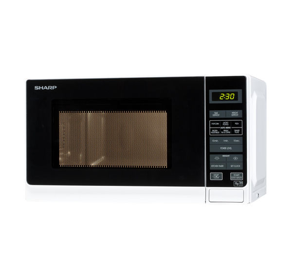 055321 - SHARP R272WM Solo Microwave - White - Currys PC World Business