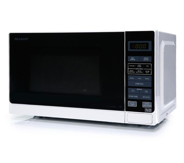 SHARP R272WM Solo Microwave - White Fast Delivery | Currysie