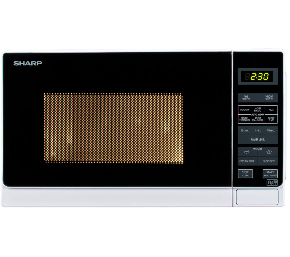 SHARP R272WM Solo Microwave - White