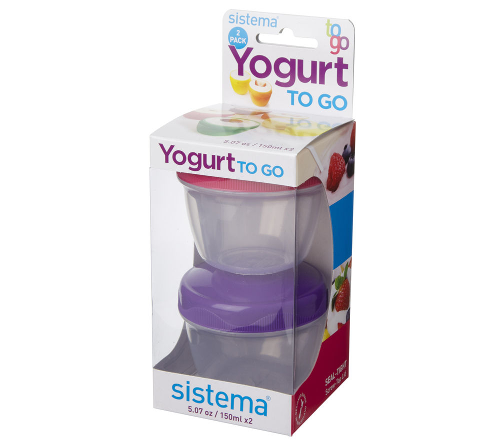SISTEMA 35 ml Yoghurt To Go Pot - Twin Pack