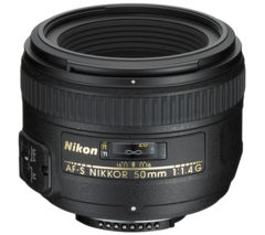 NIKON AF-S NIKKOR 50 mm f/1.4 G SWM Standard Prime Lens