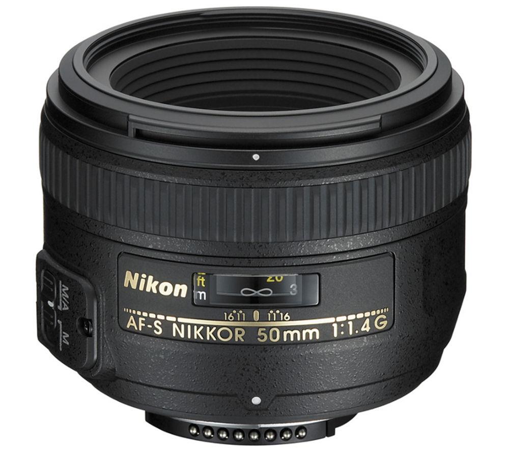 NIKON AF-S NIKKOR 50 mm f/1.4G Standard Prime Lens + DSLR Cleaning Kit