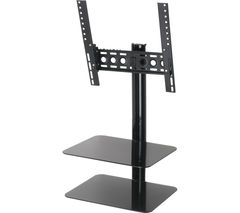 AVF ESL422B TV Bracket with AV Shelving - Black