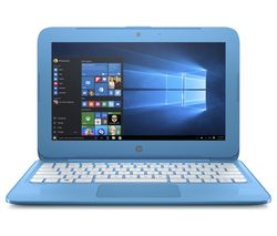 "HP Stream 11-y050sa 11.6"" Intel® Celeron™ Laptop - 32 GB eMMC, Aqua Blue"