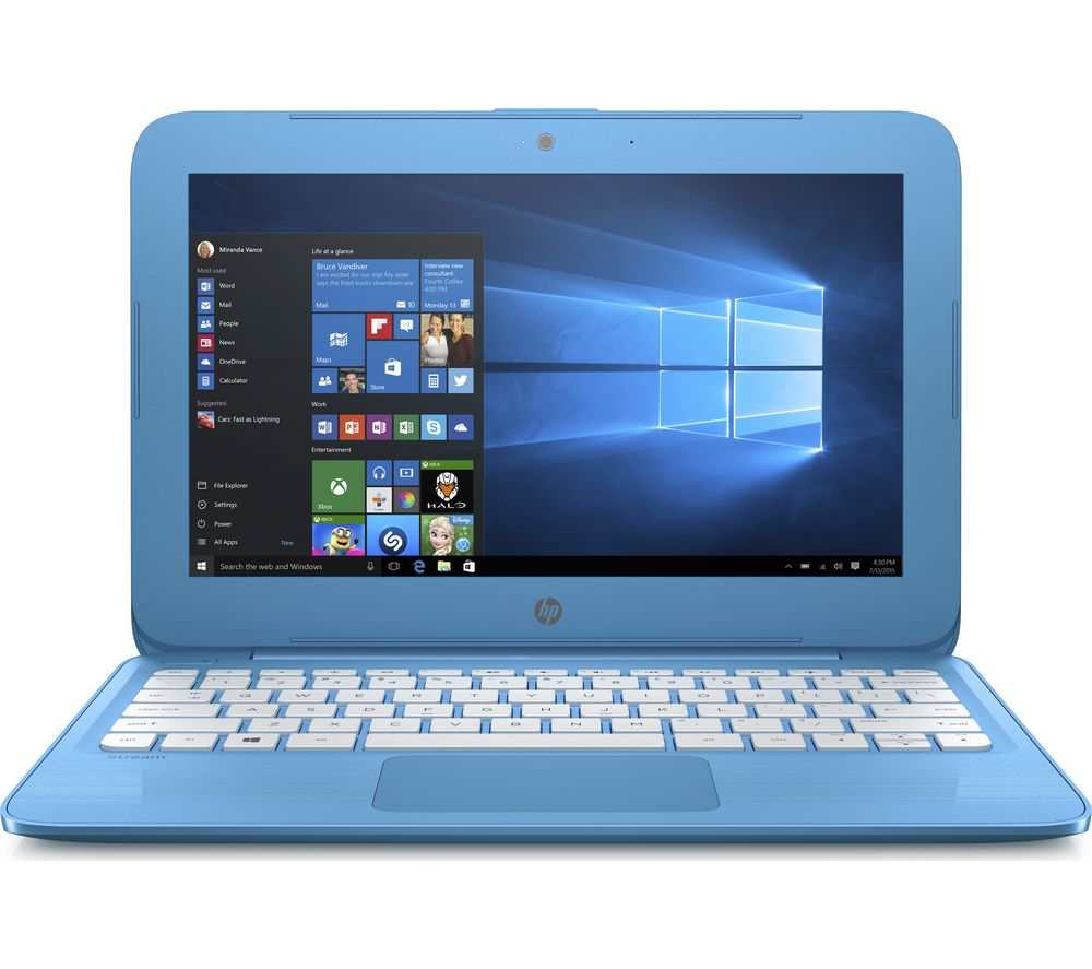 "HP Stream 11-y050sa 11.6"" Laptop - Aqua Blue + Office 365 Personal - 1 year for 1 user + LiveSafe Premium - 1 user / unlimited devices for 1 year"