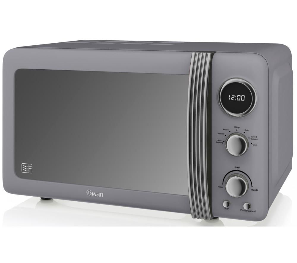 Buy Swan Retro Sm22030grn Solo Microwave Grey Free