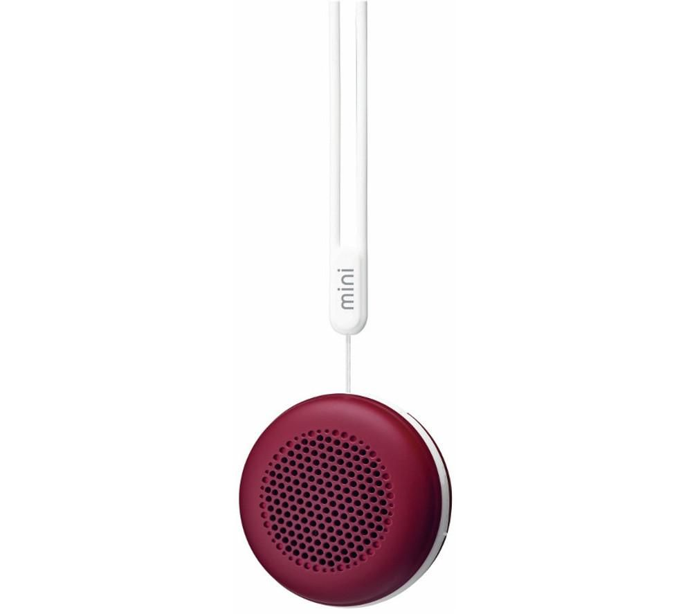 GOJI Mini Portable Wireless Speaker - Red