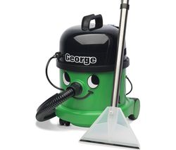 NUMATIC George Hoover GVE370 3-in-1 Cylinder Wet & Dry Vacuum Cleaner - Green & Black
