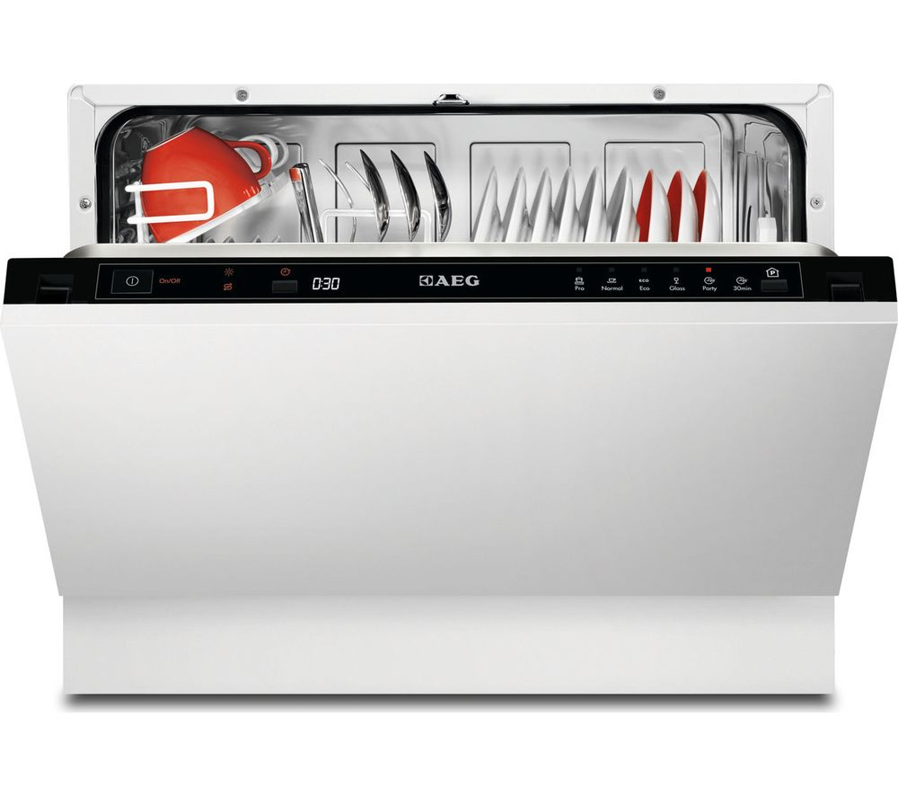 Compare prices for Aeg F55210VI0 Compact Integrated Dishwasher