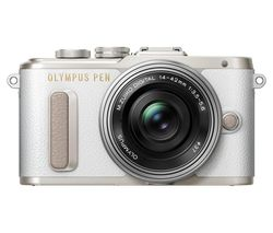 OLYMPUS PEN E-PL8 Mirrorless Camera with 14-42 mm f/3.5-5.6 Zoom Lens - White