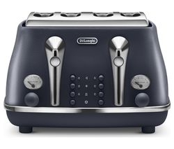 DELONGHI Elements CTOE4003.BL 4-Slice Toaster - Ocean Blue