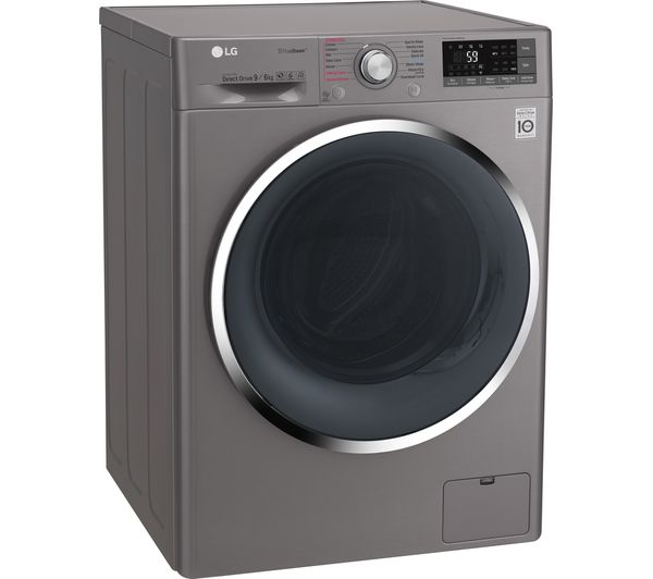 Lg Truesteam With Direct Drive F4j8fh2s Smart 9 Kg Washer Dryer Graphite