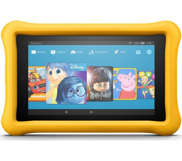 Image of AMAZON Fire 7 Kids Edition Tablet (2017) - 16 GB, Yellow