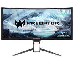 "ACER Predator Z35P Quad HD 35"" Curved LED Gaming Monitor - Black"