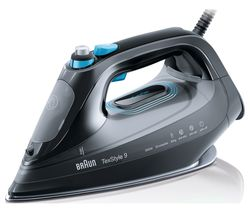 BRAUN TexStyle 9 SI9188BK Steam Iron - Black
