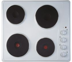 INDESIT TI 60 W Electric Solid Plate Hob - White Best Price, Cheapest Prices