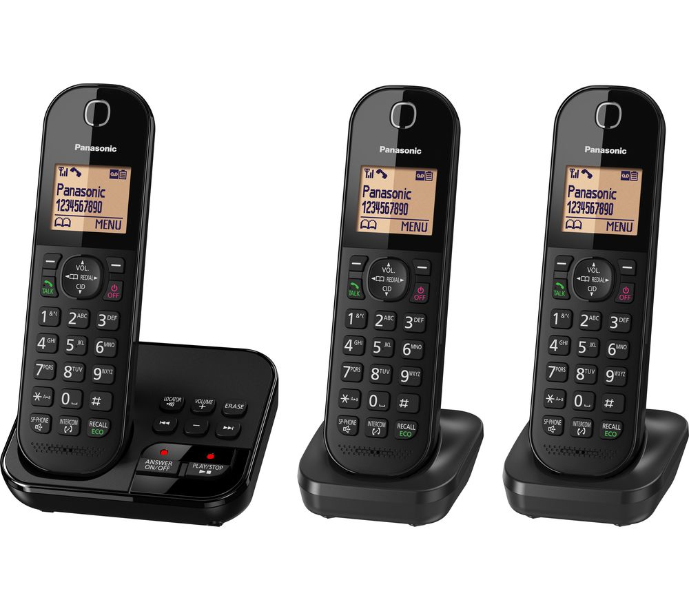 Buy PANASONIC KX-TGC423EB Cordless Phone with Answering ...