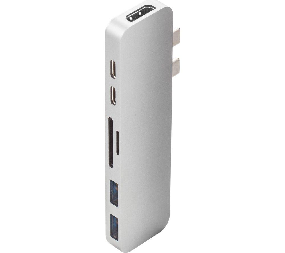 Image of HYPERDRIVE Thunderbolt USB Type-C Multi Hub, Silver