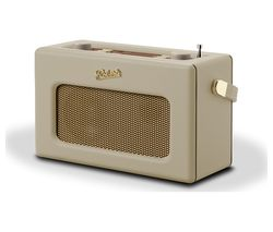 ROBERTS Revival RD70 Portable DAB+/FM Retro Bluetooth Clock Radio - Cream