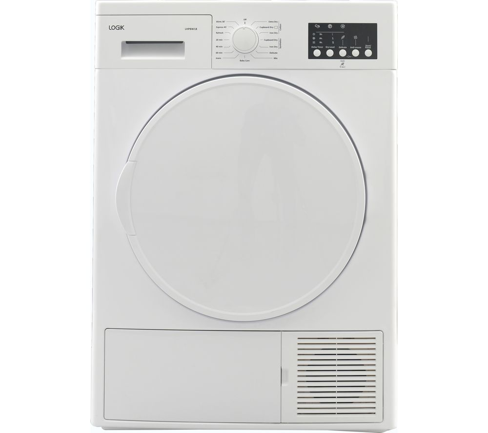 LOGIK LHP8W18 8 kg Heat Pump Tumble Dryer - White
