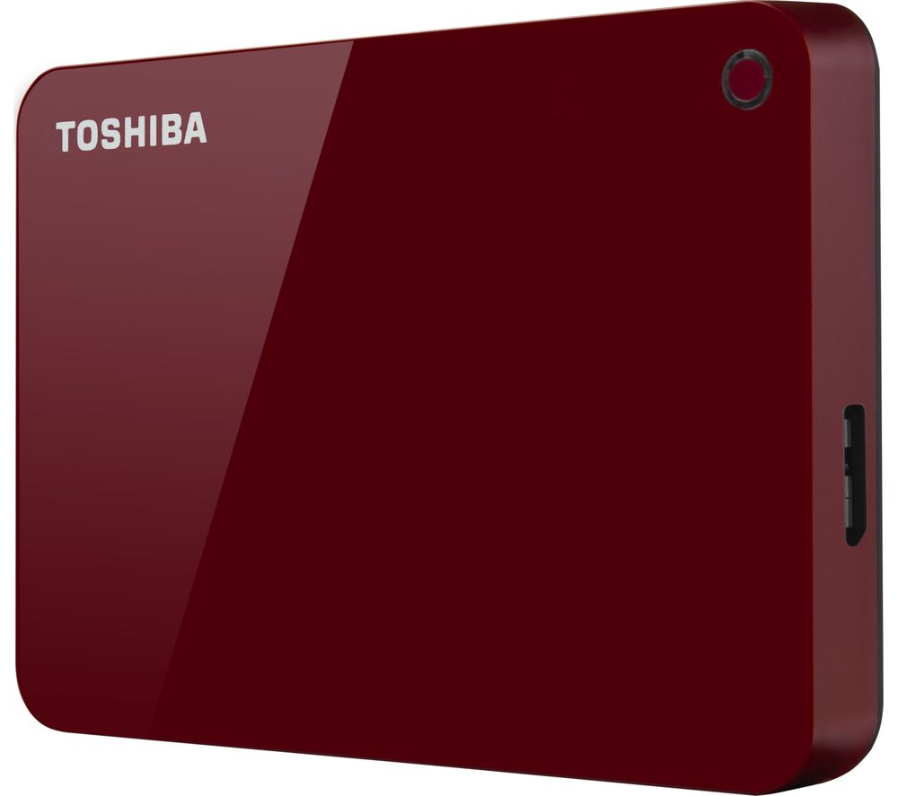 Compare retail prices of TOSHIBA Canvio Advanced HDTC910ER3AA Portable Hard Drive - 1 TB - Red to get the best deal online