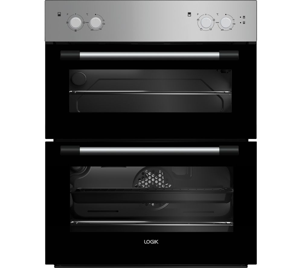 LOGIK LBUDOX18 Electric Built-under Double Oven - Silver