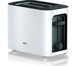BRAUN Series 3 PurEase HT3000.WH 2-Slice Toaster - White