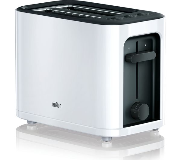 Image of BRAUN Series 3 PurEase HT3000.WH 2-Slice Toaster - White
