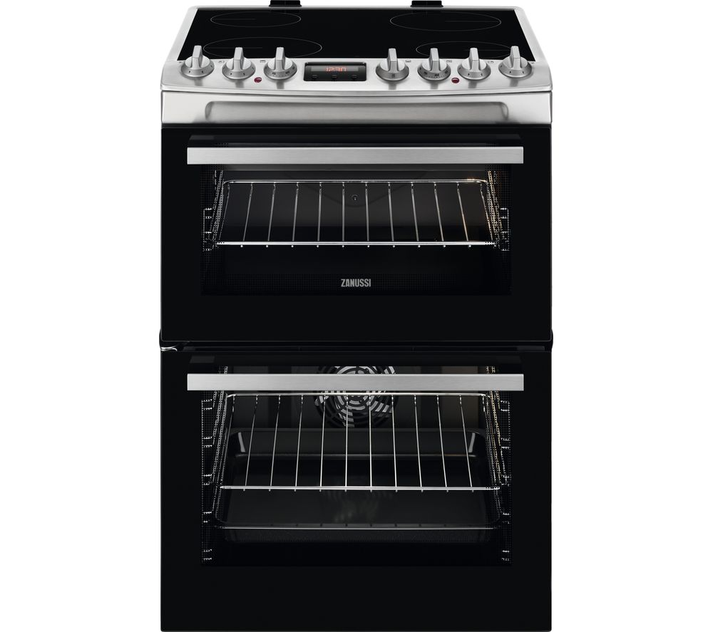 ZANUSSI ZCV69068XE 60 cm Electric Ceramic Cooker - Stainless Steel