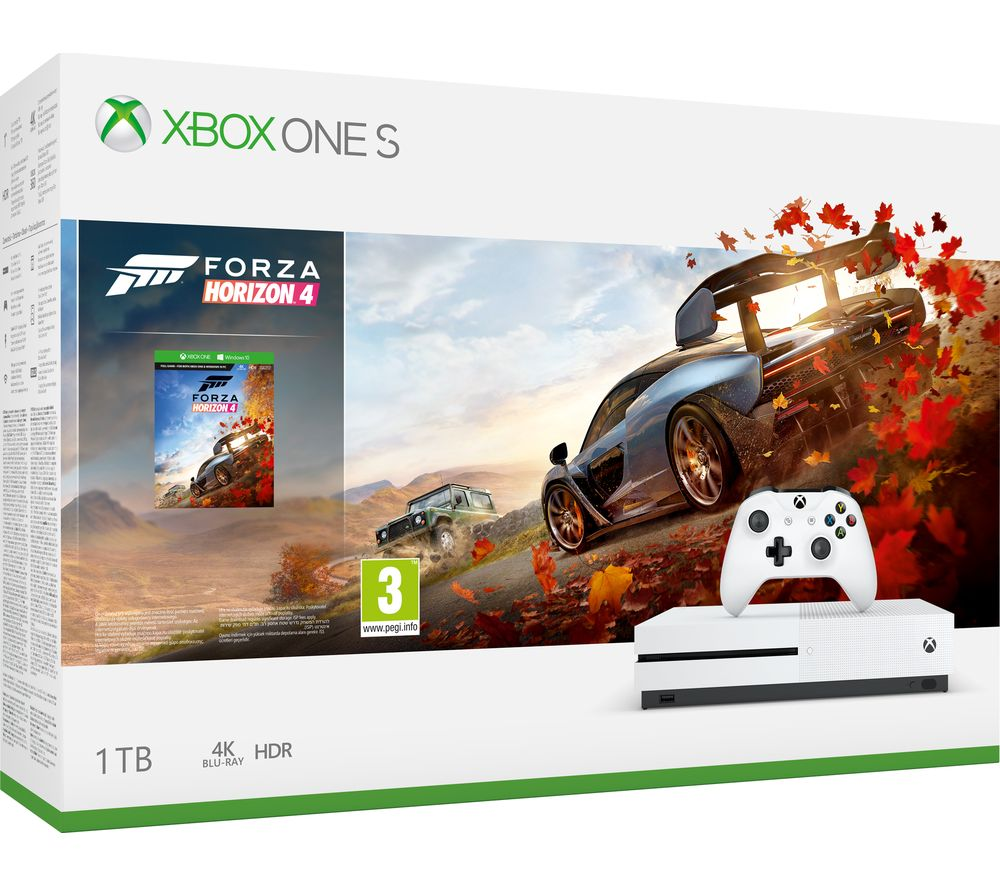 buy microsoft xbox one s with forza horizon 4 free. Black Bedroom Furniture Sets. Home Design Ideas