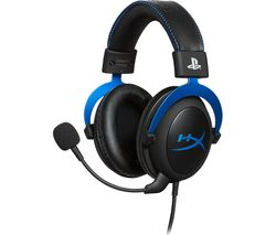Cloud PS4 & PS5 Gaming Headset - Black & Blue