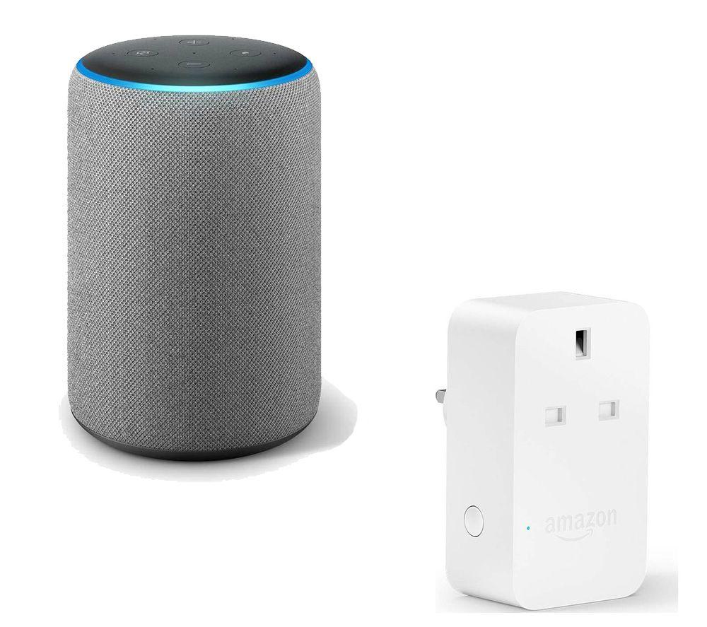 AMAZON Echo Plus Grey & Smart Plug Bundle